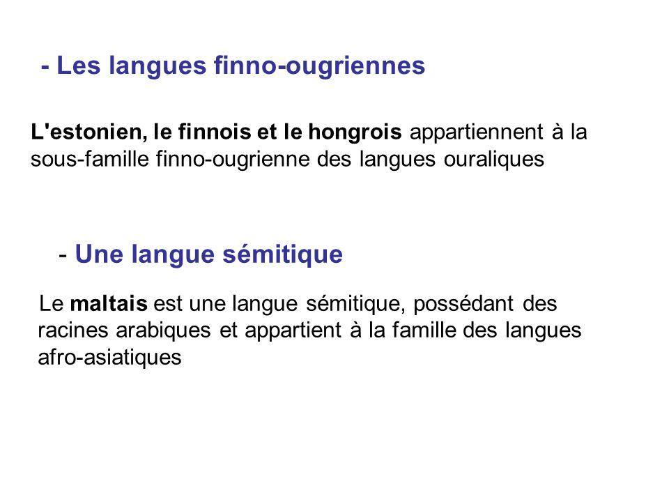 - Les langues finno-ougriennes