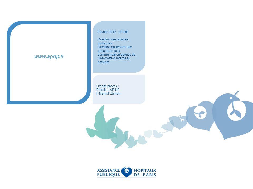 www.aphp.fr Février 2012 - AP-HP Direction des affaires juridiques.