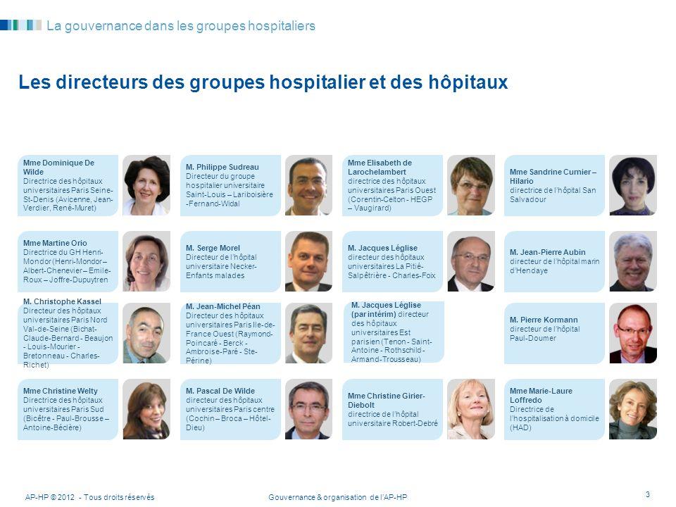 Les directeurs des groupes hospitalier et des hôpitaux