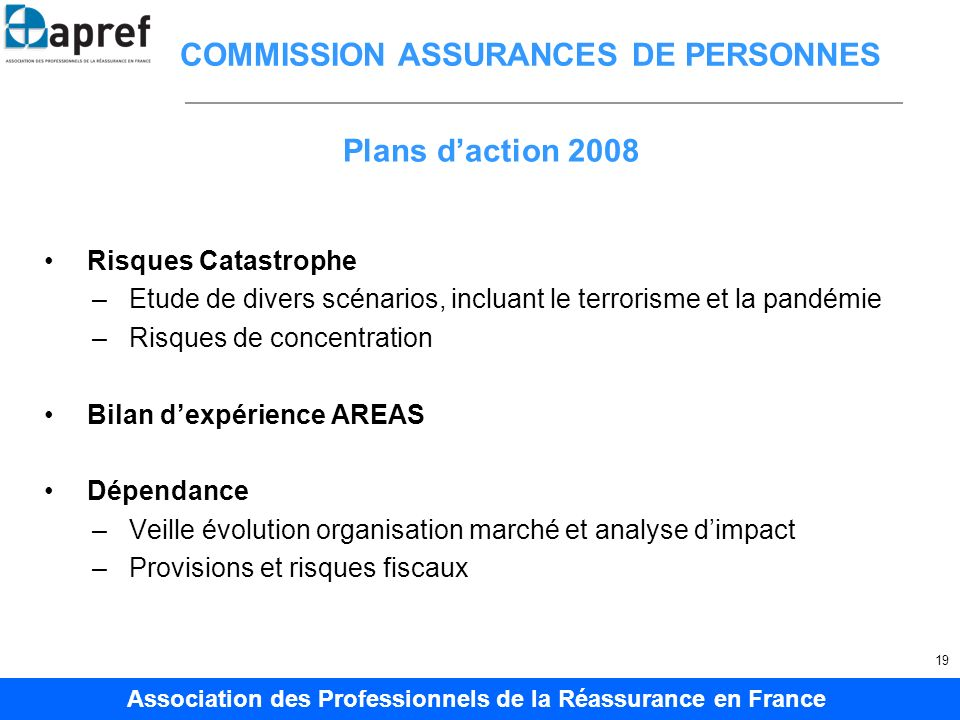 COMMISSION ASSURANCES DE PERSONNES