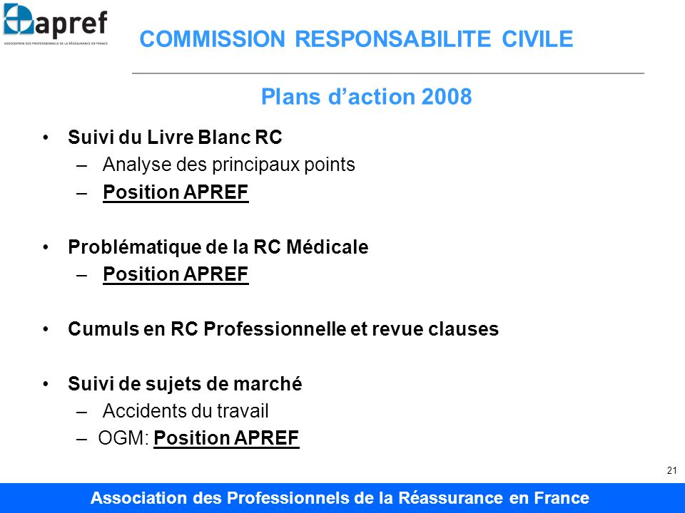 COMMISSION RESPONSABILITE CIVILE