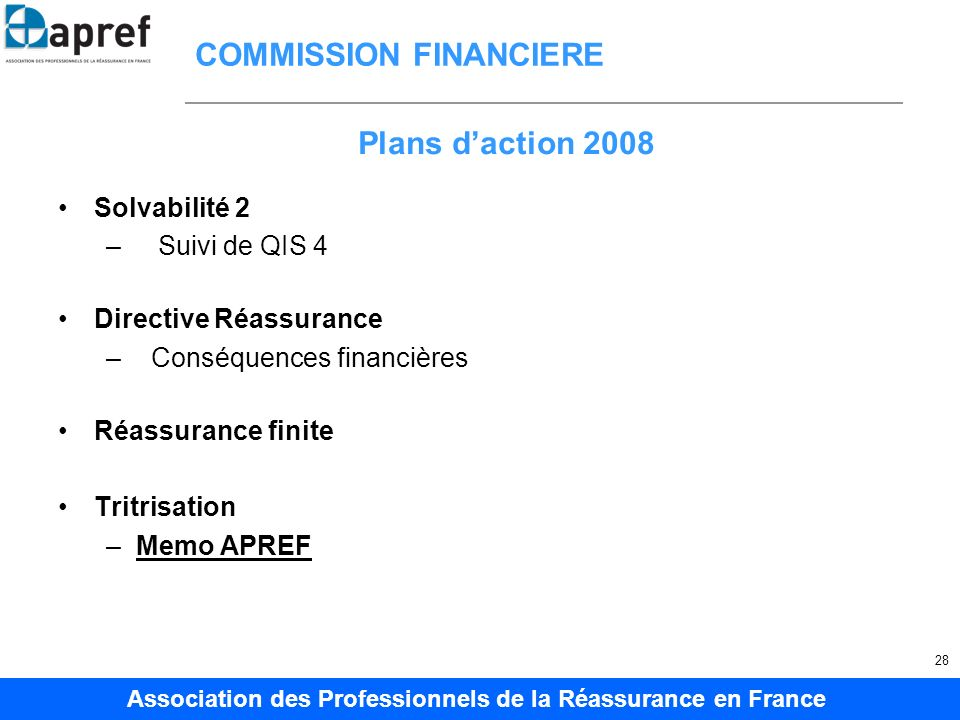 COMMISSION FINANCIERE