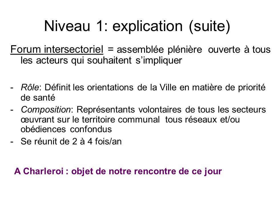 Niveau 1: explication (suite)
