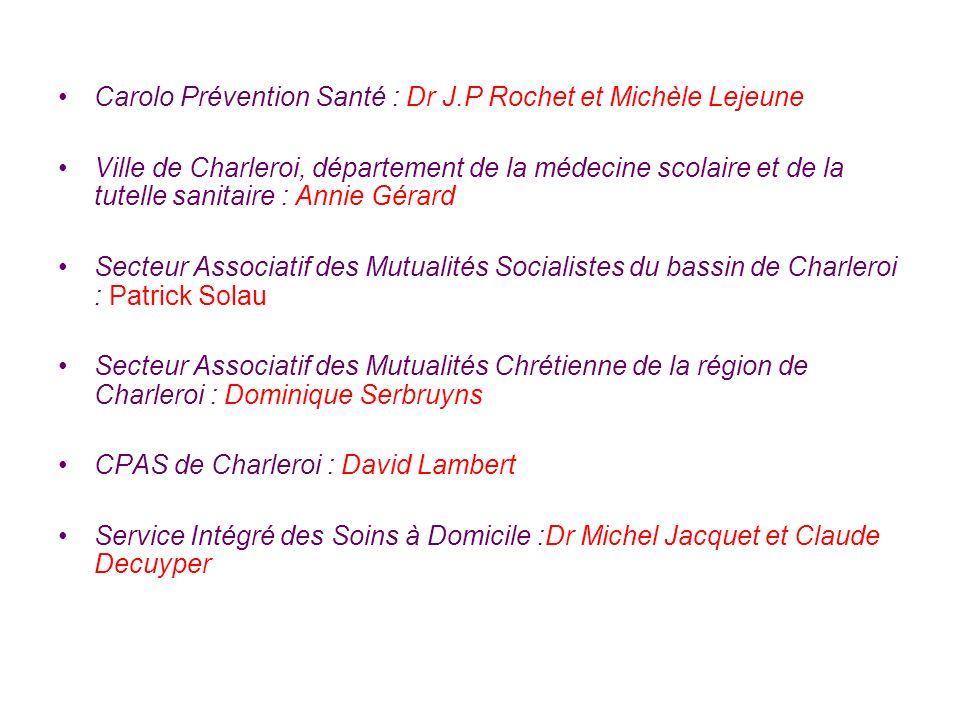 Carolo Prévention Santé : Dr J.P Rochet et Michèle Lejeune