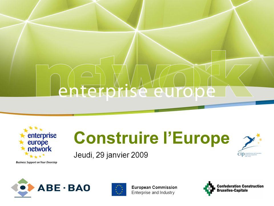 Construire l'Europe Jeudi, 29 janvier 2009