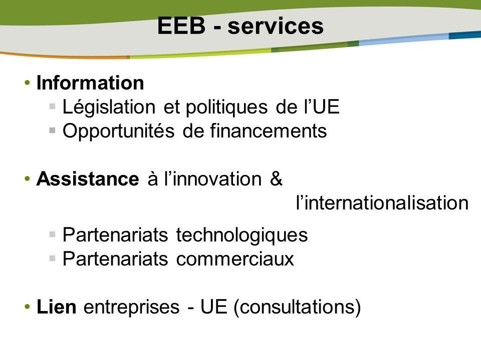 EEB - services Information Législation et politiques de l'UE