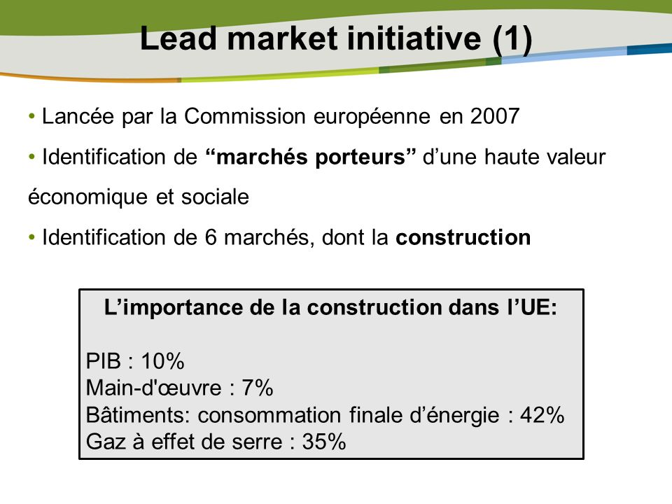 Lead market initiative (1)