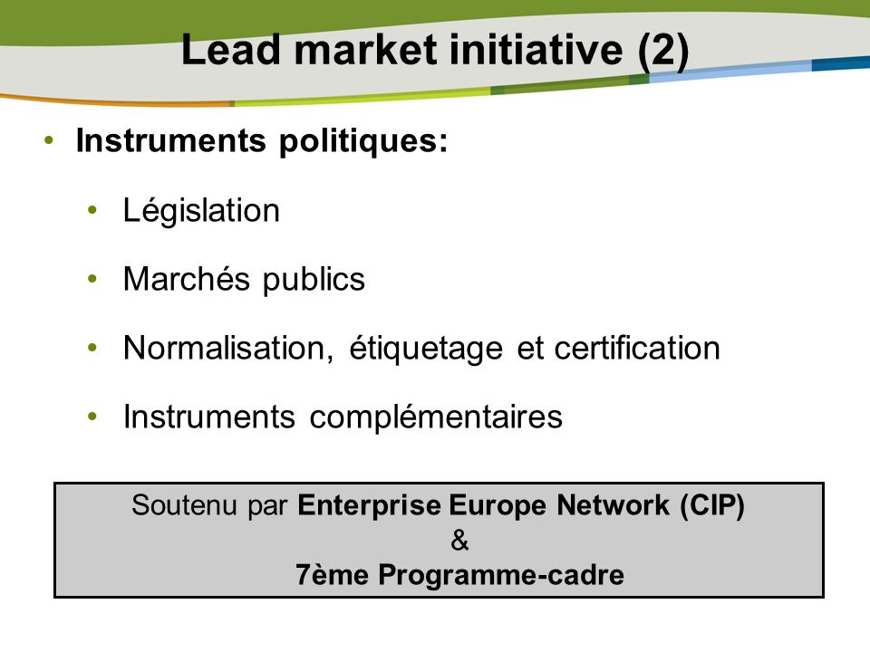 Lead market initiative (2)