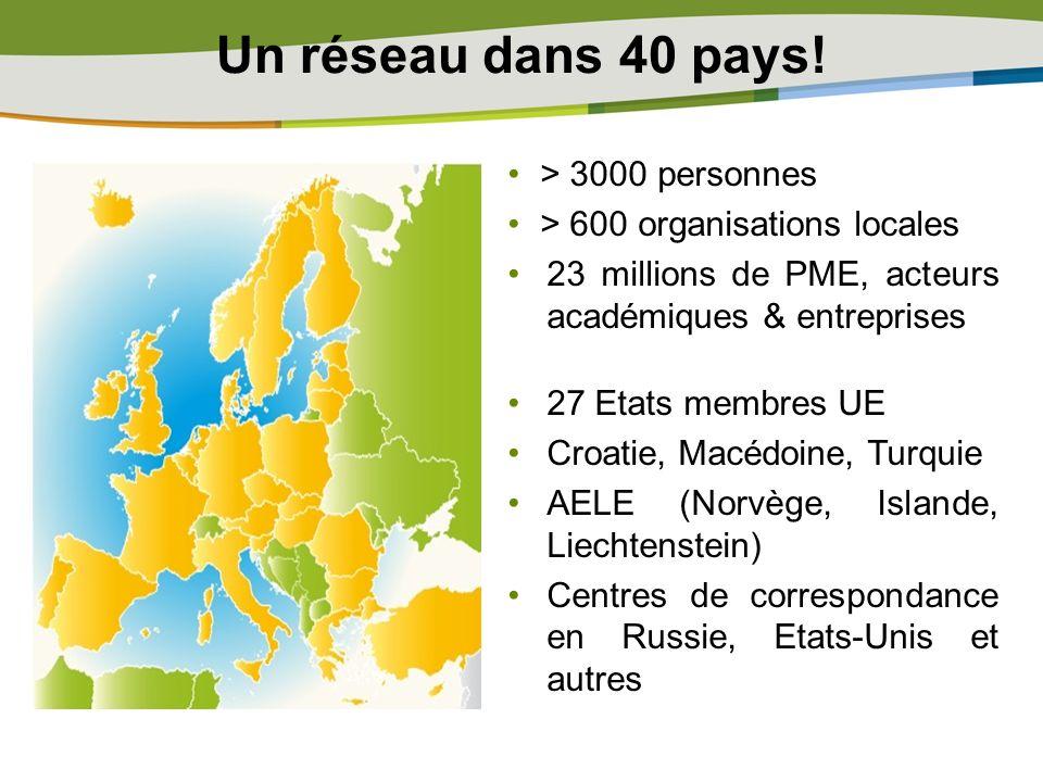Un réseau dans 40 pays! > 3000 personnes