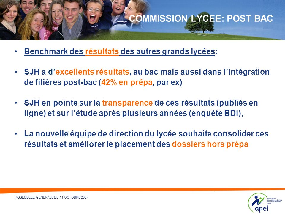 COMMISSION LYCEE: POST BAC