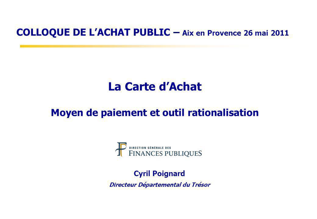 La Carte d'Achat Moyen de paiement et outil rationalisation