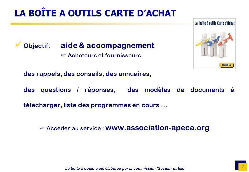 LA BOÎTE A OUTILS CARTE D'ACHAT