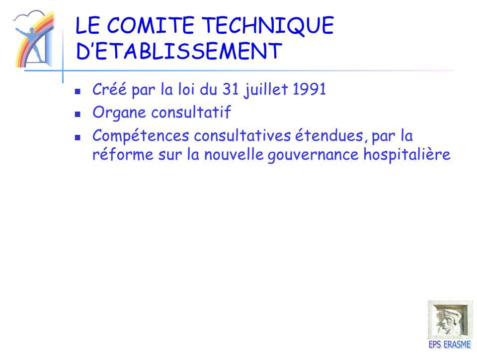 LE COMITE TECHNIQUE D'ETABLISSEMENT