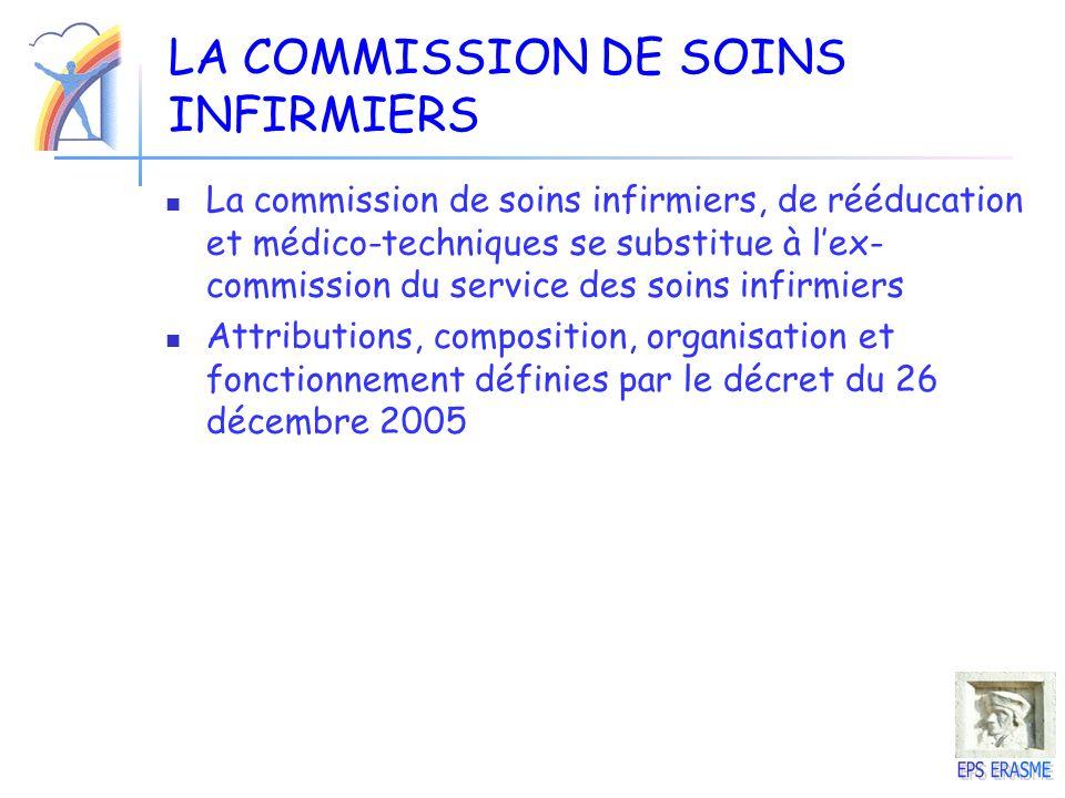 LA COMMISSION DE SOINS INFIRMIERS