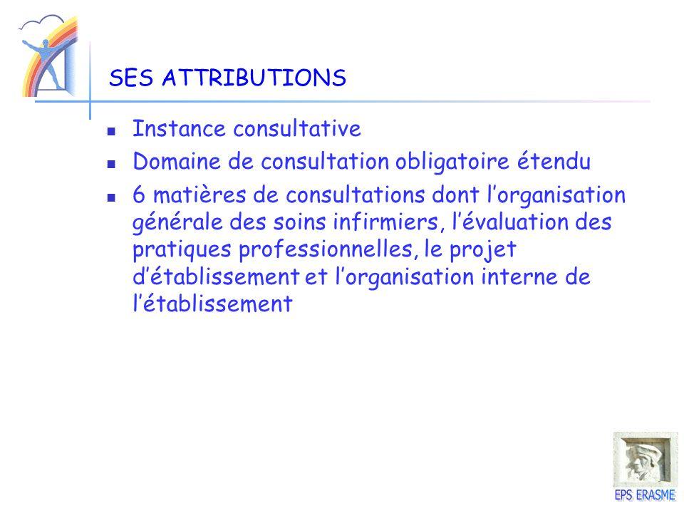 SES ATTRIBUTIONS Instance consultative. Domaine de consultation obligatoire étendu.