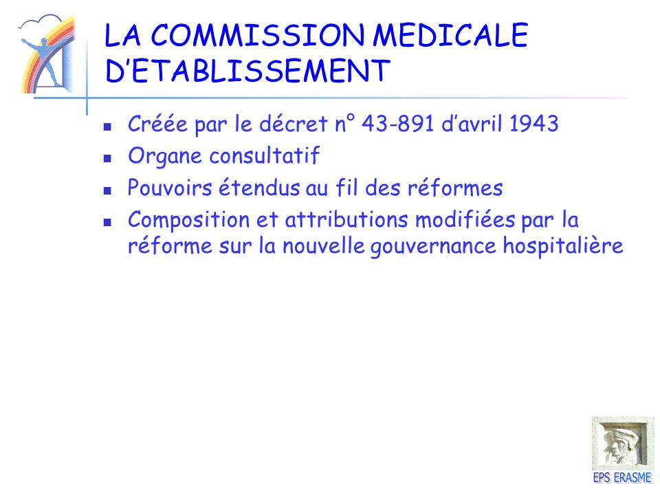 LA COMMISSION MEDICALE D'ETABLISSEMENT