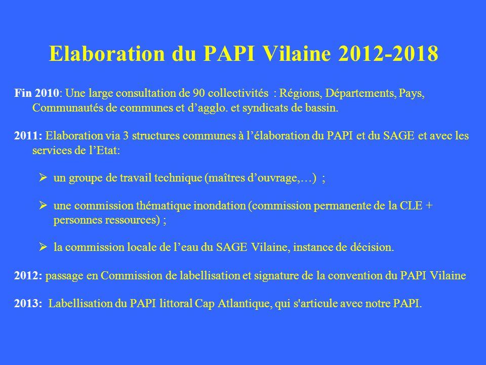 Elaboration du PAPI Vilaine 2012-2018
