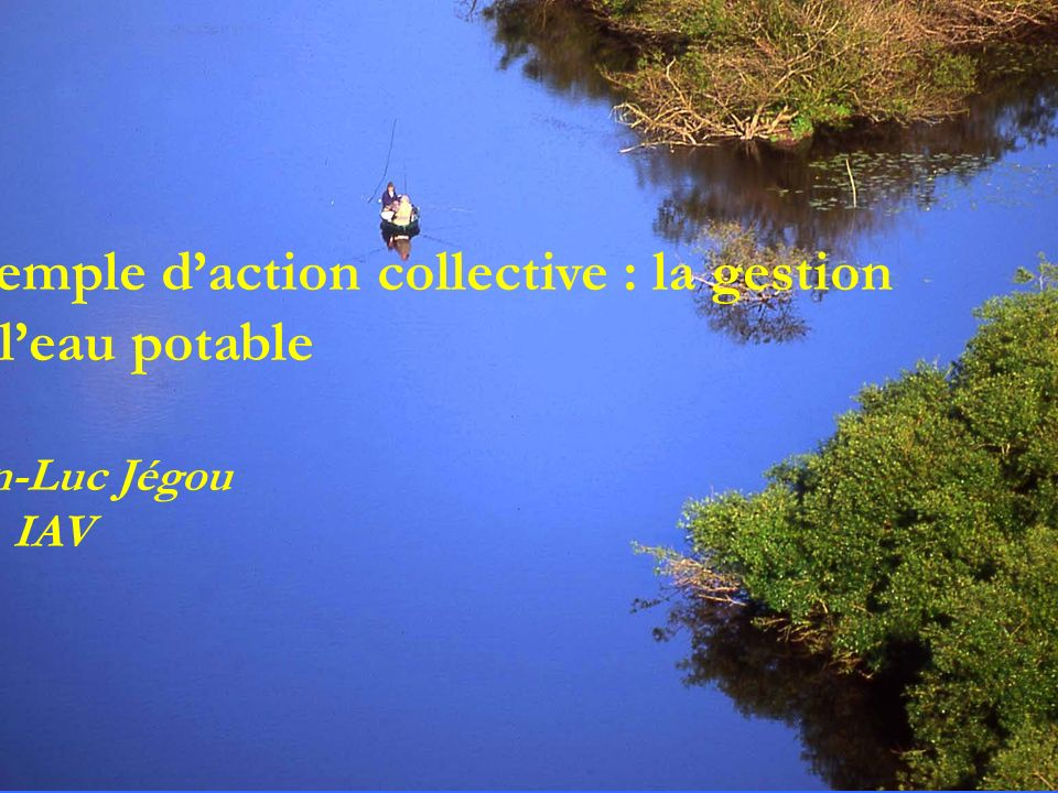 Exemple d'action collective : la gestion de l'eau potable