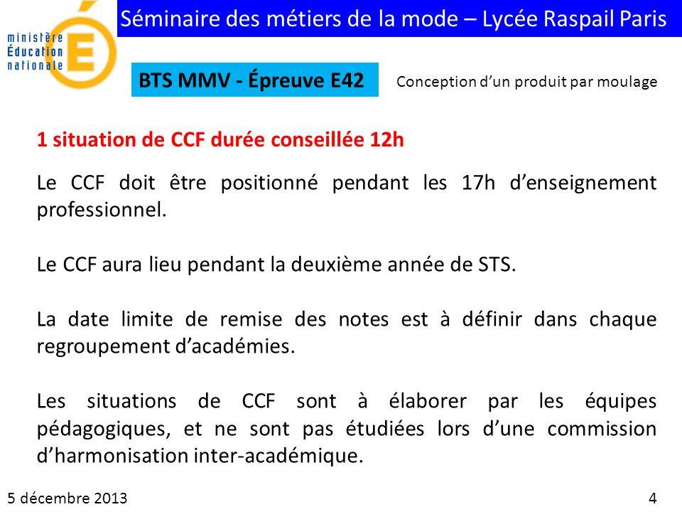 1 situation de CCF durée conseillée 12h
