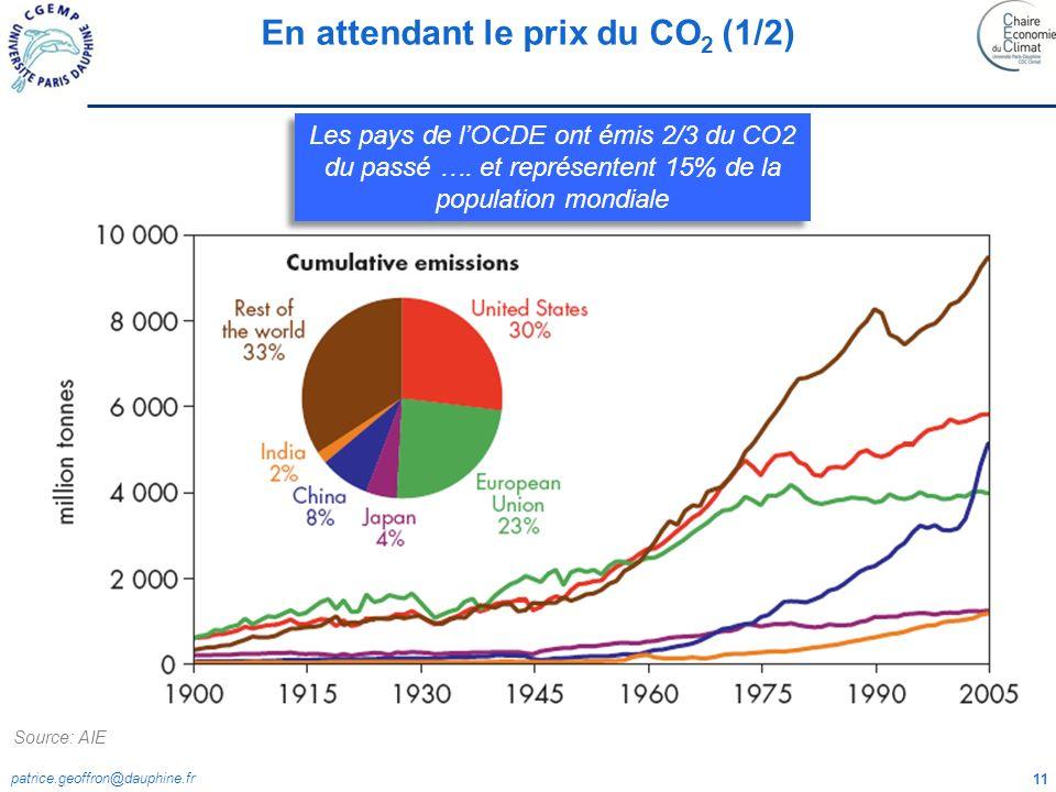 En attendant le prix du CO2 (1/2)