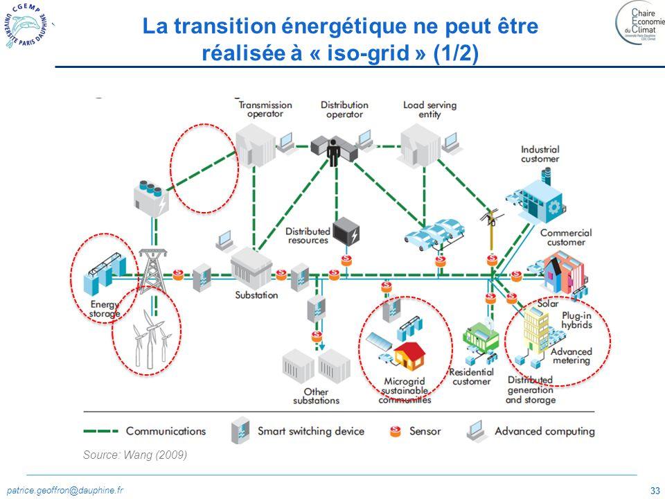 La transition énergétique ne peut être réalisée à « iso-grid » (1/2)