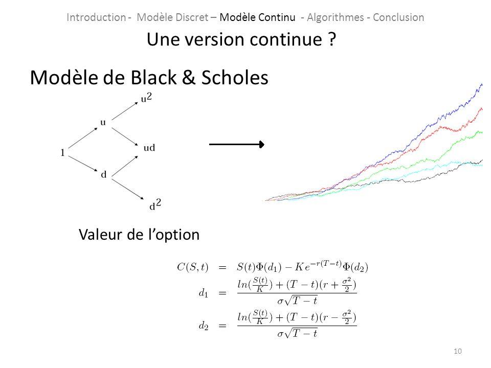 Modèle de Black & Scholes