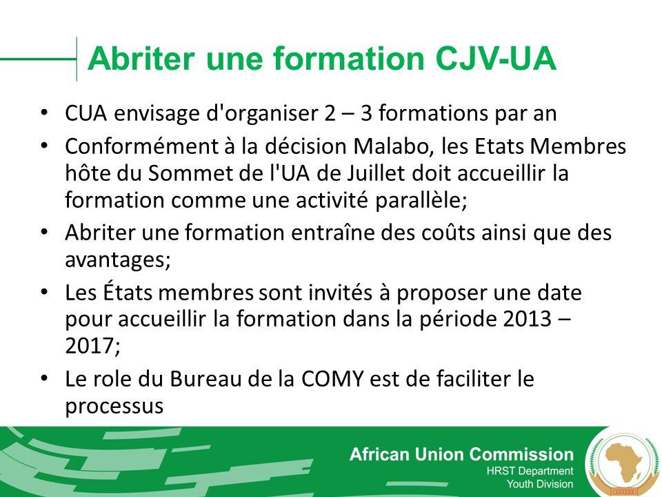 Abriter une formation CJV-UA