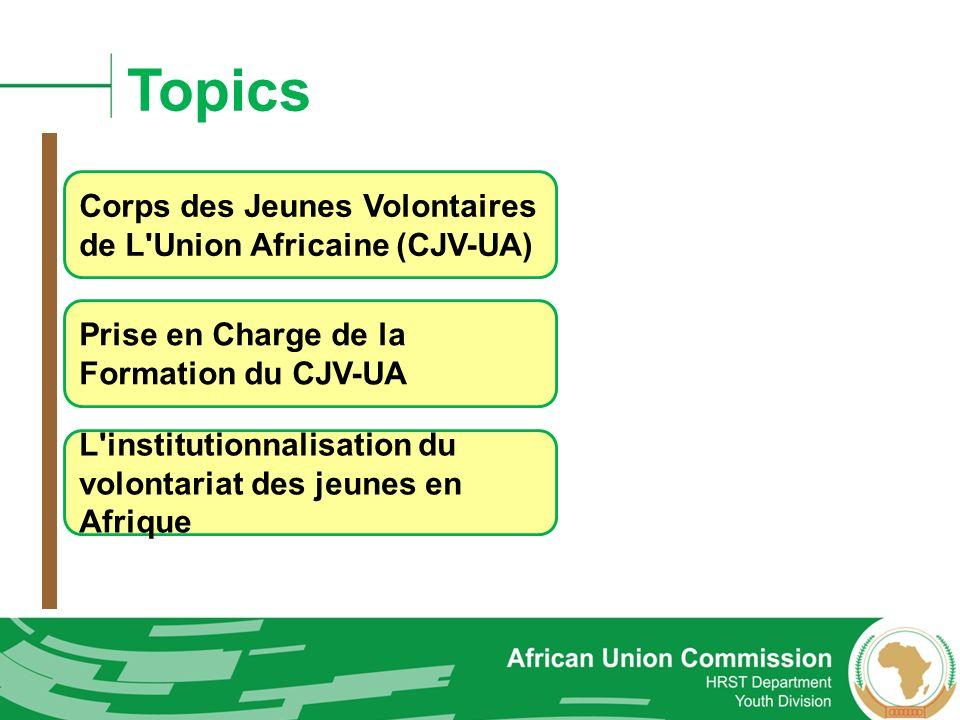 Topics Corps des Jeunes Volontaires de L Union Africaine (CJV-UA)