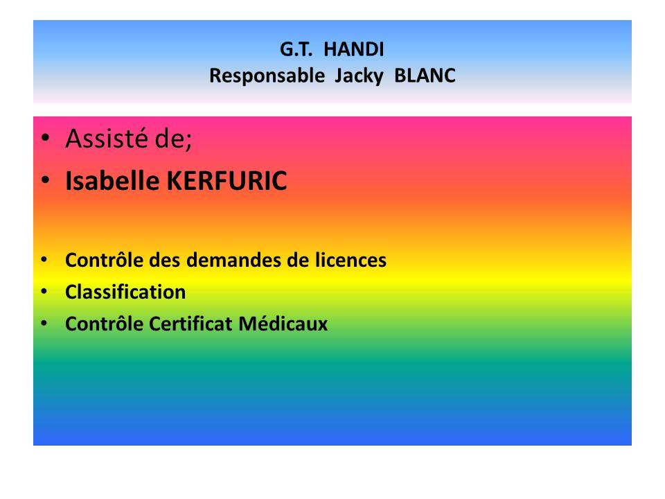 G.T. HANDI Responsable Jacky BLANC