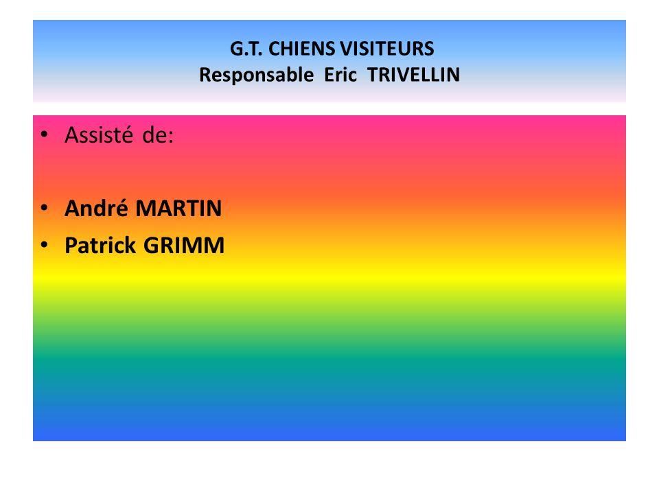 G.T. CHIENS VISITEURS Responsable Eric TRIVELLIN