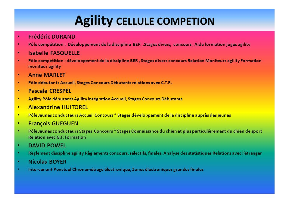 Agility CELLULE COMPETION