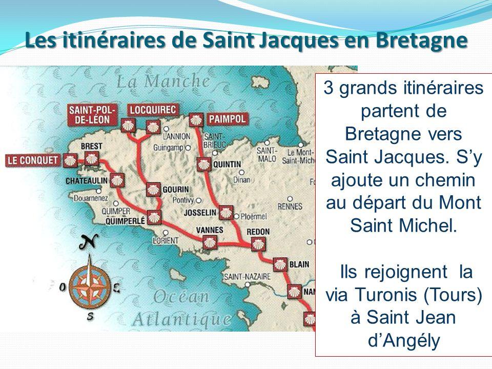 Les itinéraires de Saint Jacques en Bretagne