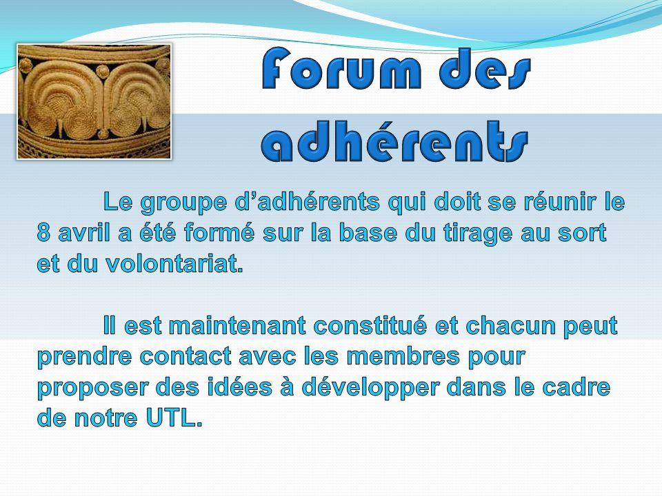 Forum des adhérents Le groupe d'adhérents qui doit se réunir le 8 avril a été formé sur la base du tirage au sort et du volontariat.