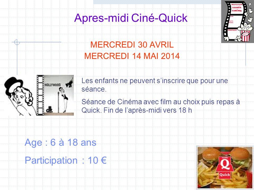 Apres-midi Ciné-Quick