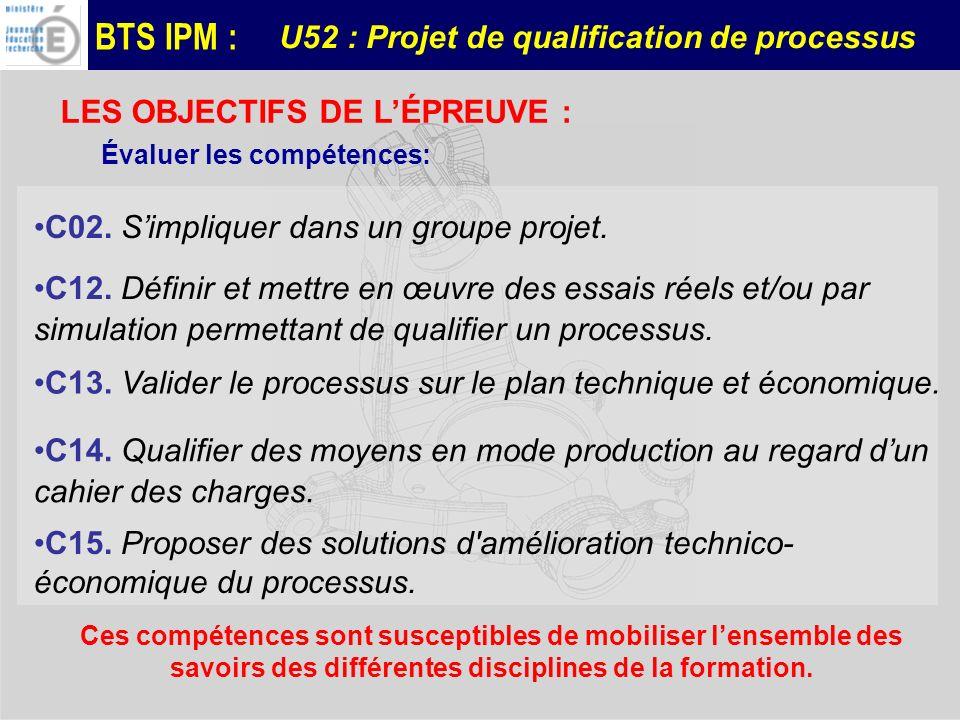 U52 : Projet de qualification de processus