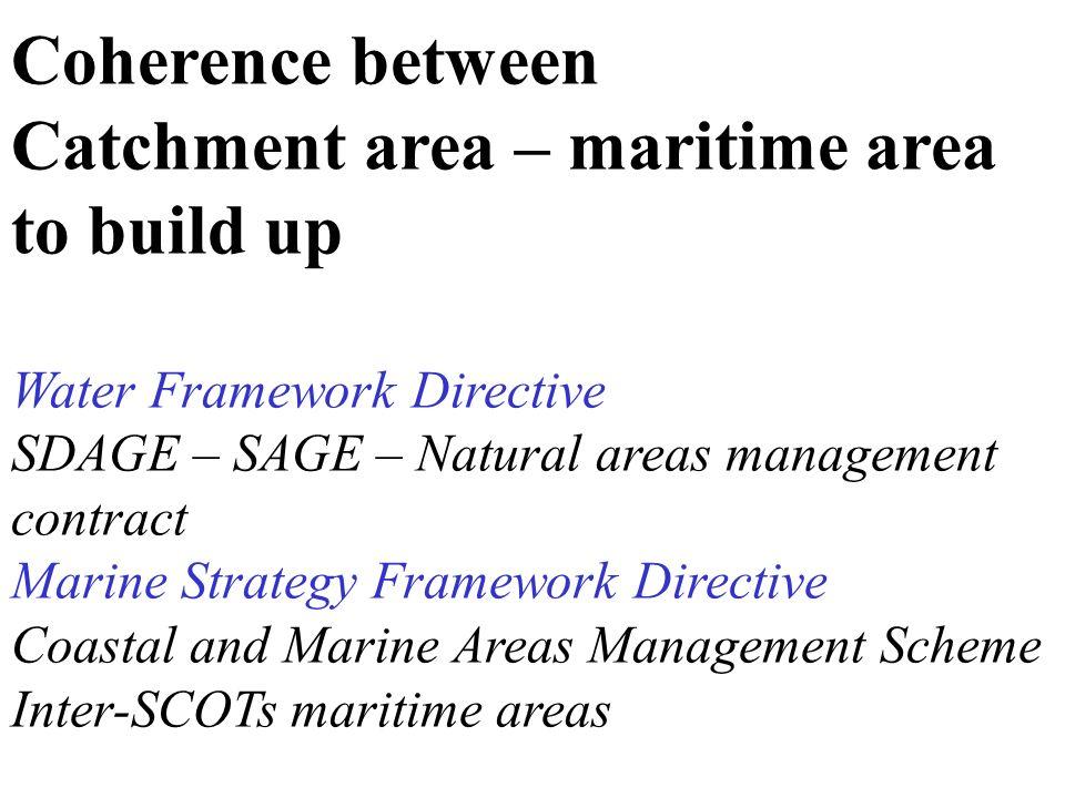 Catchment area – maritime area to build up