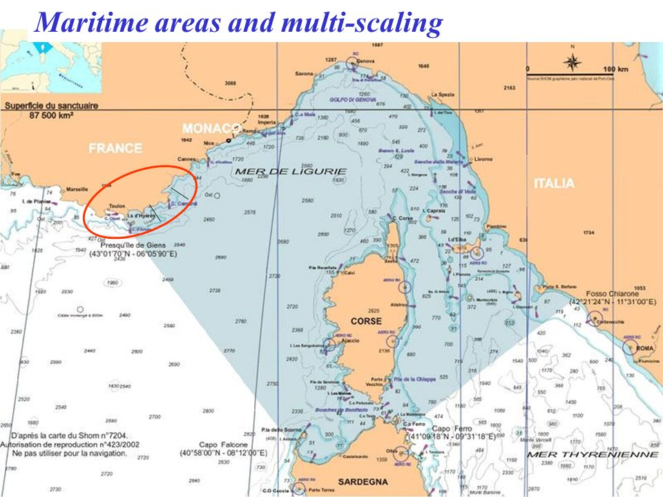 Maritime areas and multi-scaling