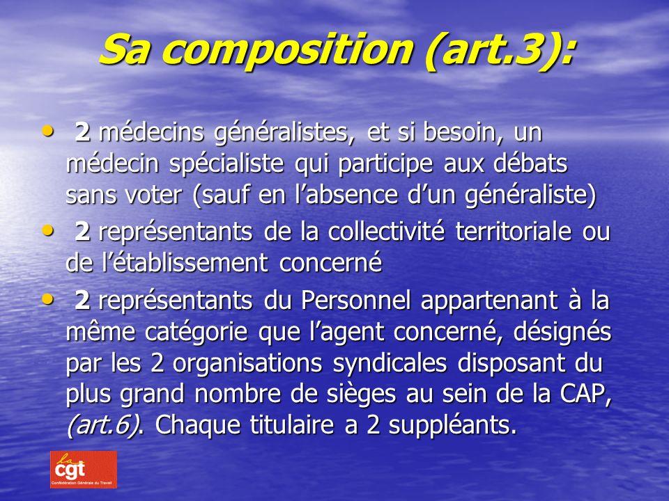 Sa composition (art.3):