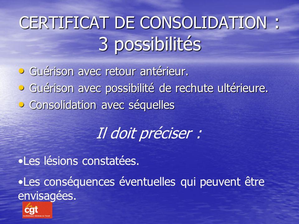 CERTIFICAT DE CONSOLIDATION : 3 possibilités
