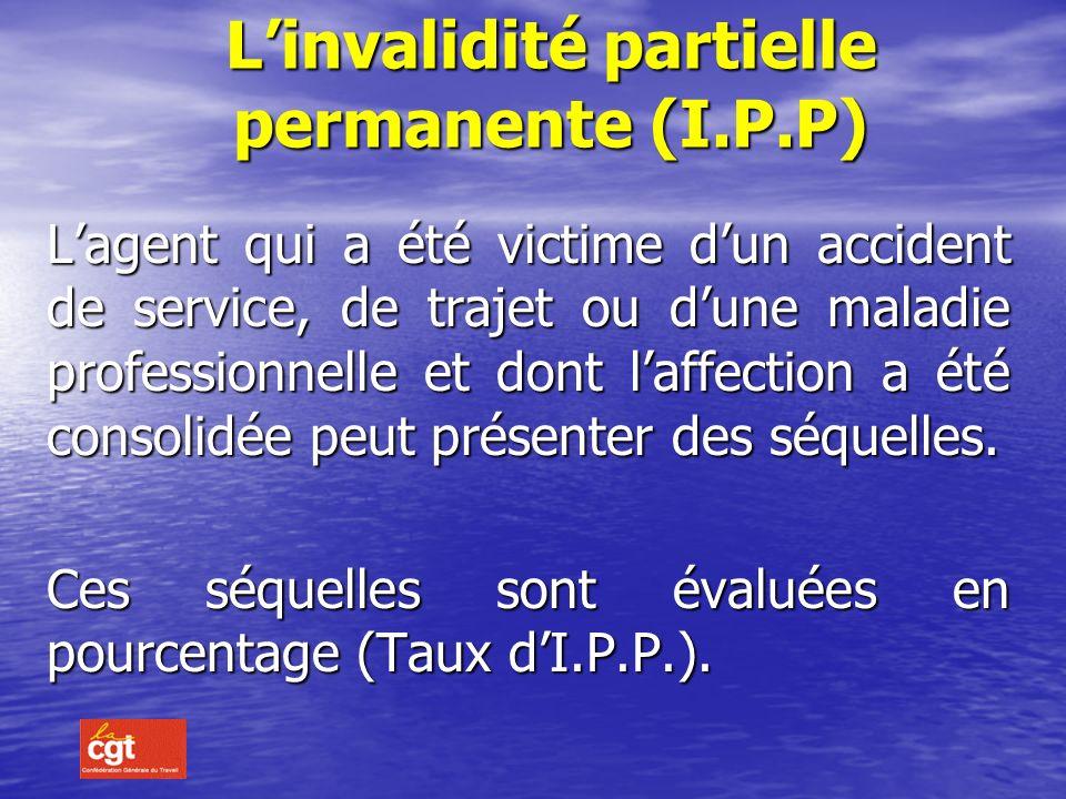 L'invalidité partielle permanente (I.P.P)