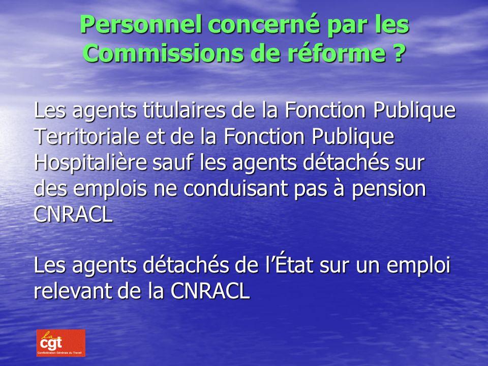 Personnel concerné par les Commissions de réforme
