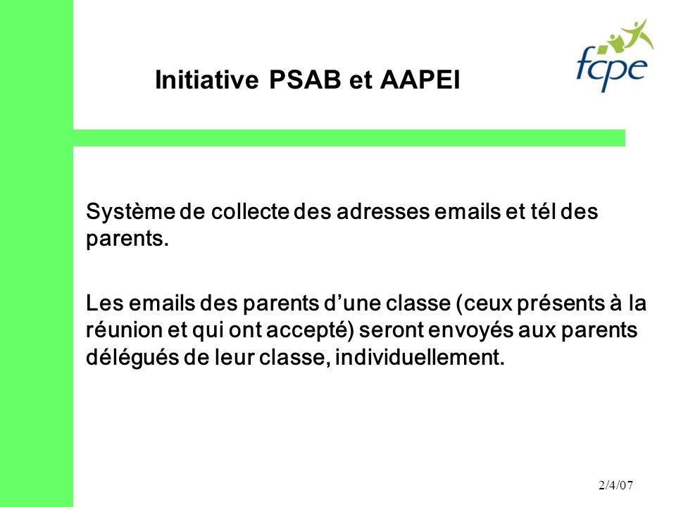 Initiative PSAB et AAPEI