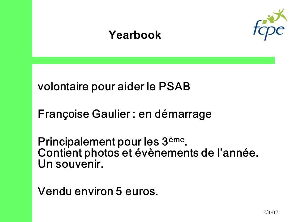 volontaire pour aider le PSAB Françoise Gaulier : en démarrage