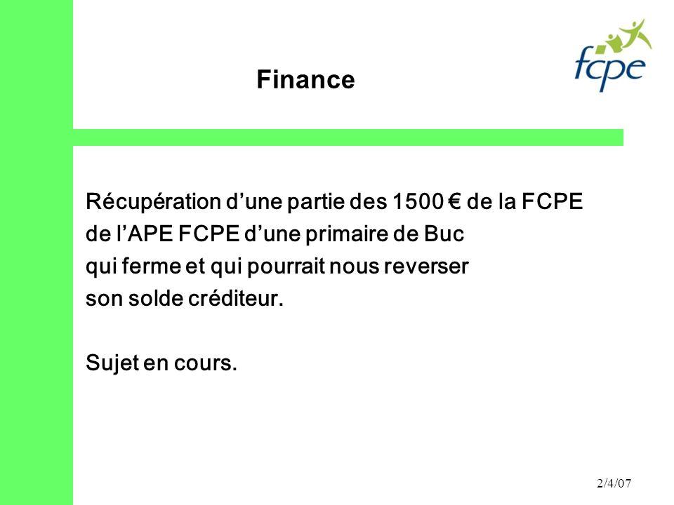 Finance Récupération d'une partie des 1500 € de la FCPE