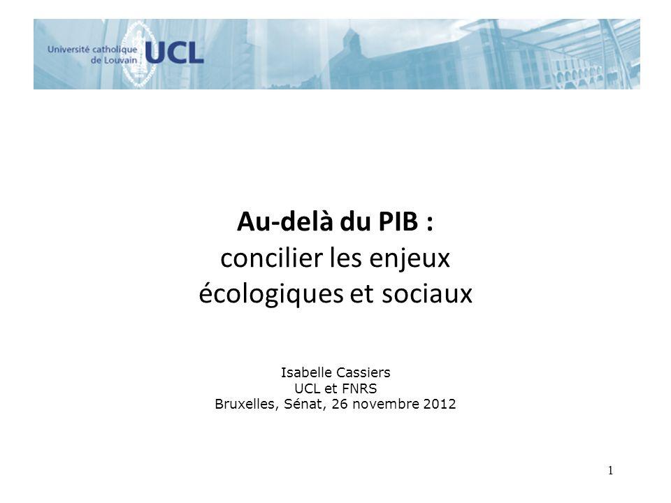 Au-delà du PIB : concilier les enjeux écologiques et sociaux