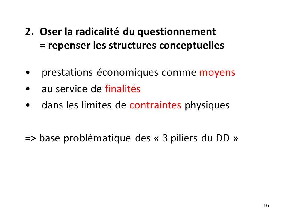 2. Oser la radicalité du questionnement = repenser les structures conceptuelles