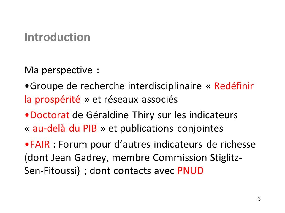 Introduction Ma perspective :