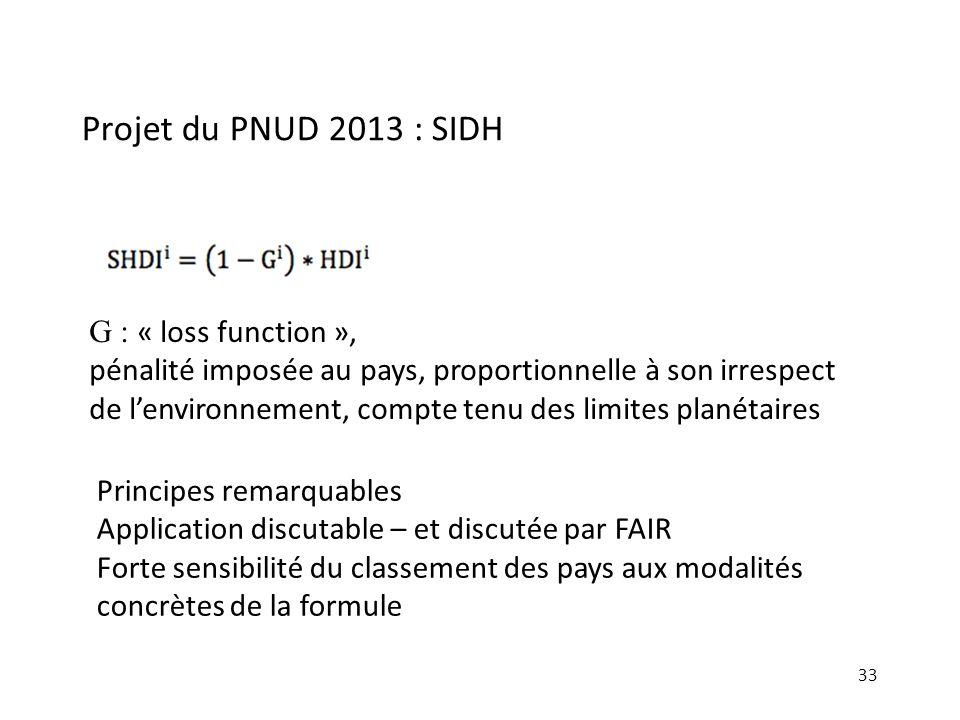 Projet du PNUD 2013 : SIDH