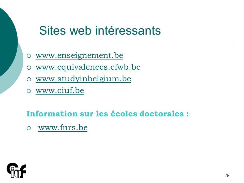 Sites web intéressants