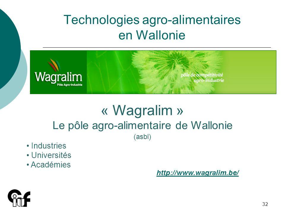 Technologies agro-alimentaires en Wallonie